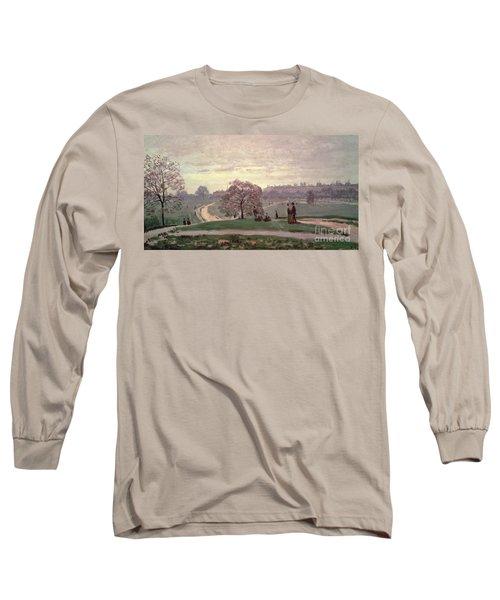 Hyde Park Long Sleeve T-Shirt by Claude Monet
