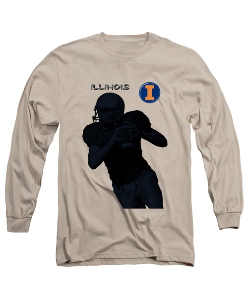 Illinois Football Long Sleeve T-Shirt by David Dehner