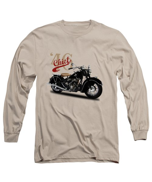 Indian Chief 1946 Long Sleeve T-Shirt by Mark Rogan