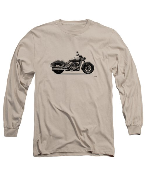 Indian Scout 2015 Long Sleeve T-Shirt by Mark Rogan