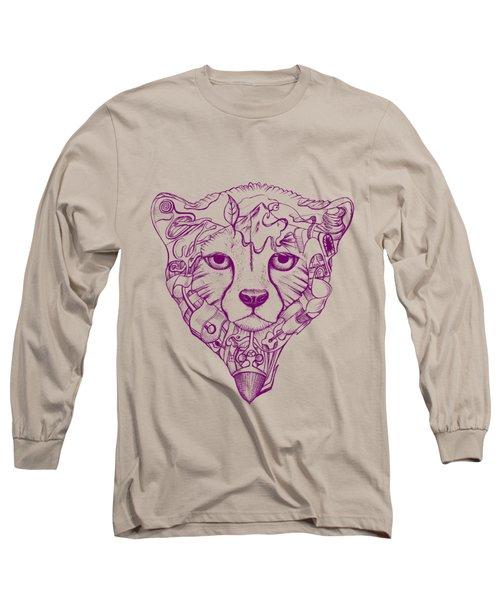 Iranian Cheetah Long Sleeve T-Shirt by Adam Campbell