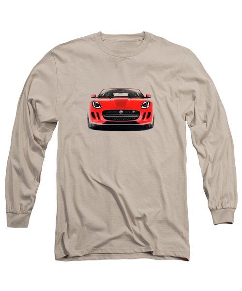 Jaguar F Type Long Sleeve T-Shirt by Mark Rogan