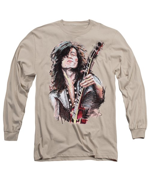 Jimmy Page Long Sleeve T-Shirt by Melanie D