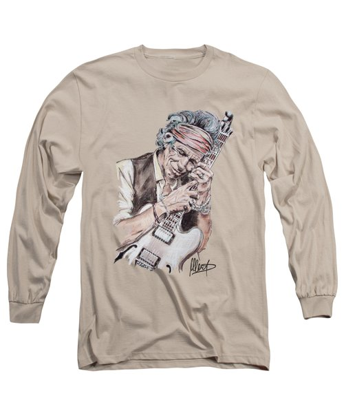 Keith Richards Long Sleeve T-Shirt by Melanie D