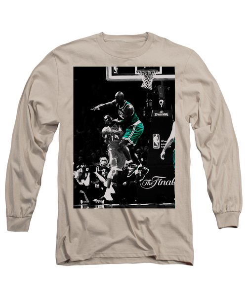 Kevin Garnett Not In Here Long Sleeve T-Shirt by Brian Reaves