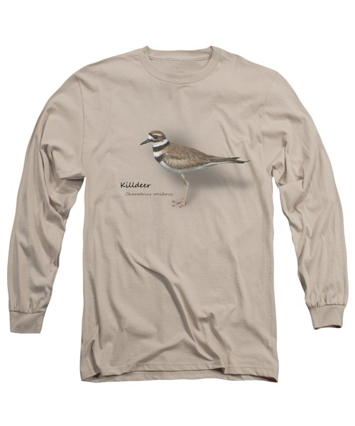 Killdeer - Charadrius Vociferus - Transparent Design Long Sleeve T-Shirt by Mitch Spence
