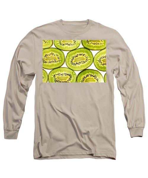 Kiwi Fruit II Long Sleeve T-Shirt by Paul Ge