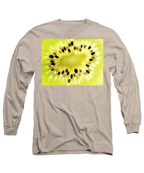 Kiwi Fruit Long Sleeve T-Shirt by Paul Ge