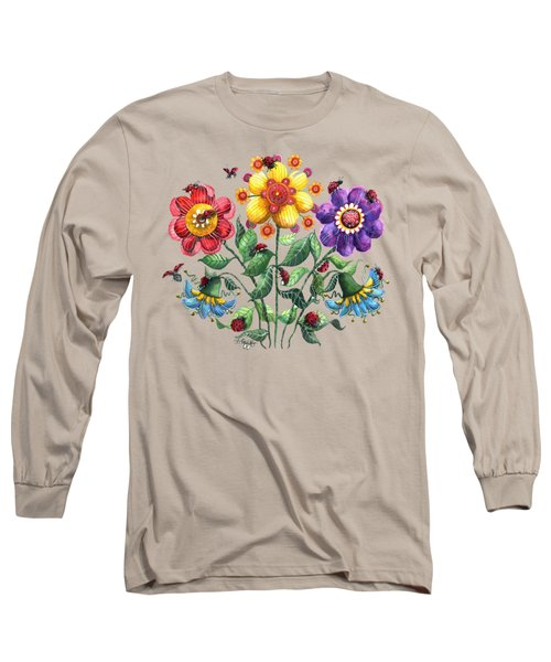 Ladybug Playground Long Sleeve T-Shirt by Shelley Wallace Ylst