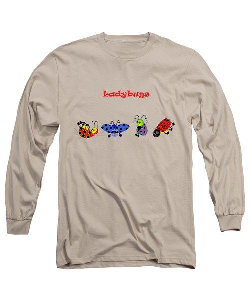 Ladybugs T-shirt Long Sleeve T-Shirt by Karen Beasley