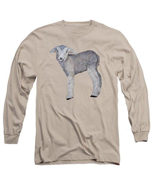 Lamb Long Sleeve T-Shirt by Petra Stephens