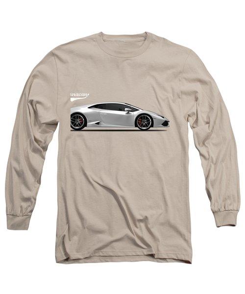 Lamborghini Huracan Long Sleeve T-Shirt by Mark Rogan