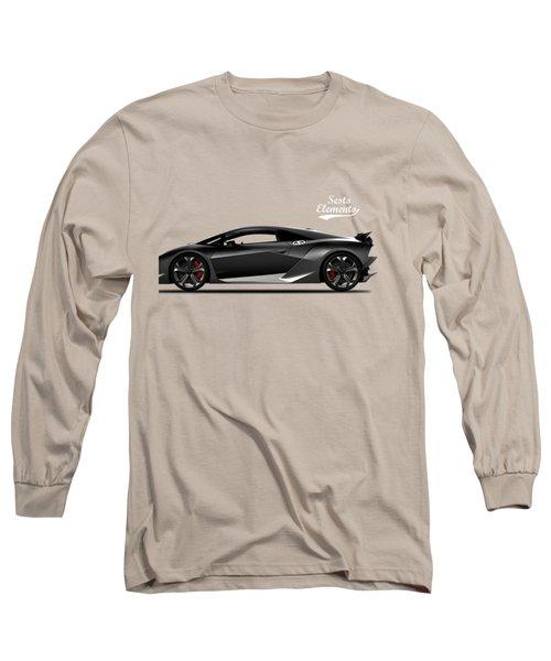 Lamborghini Sesto Elemento Long Sleeve T-Shirt by Mark Rogan