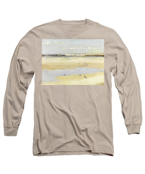 Lapwings By The Sea Long Sleeve T-Shirt by William James Laidlay