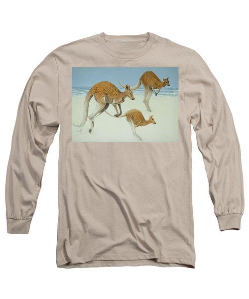 Leaping Ahead Long Sleeve T-Shirt by Pat Scott