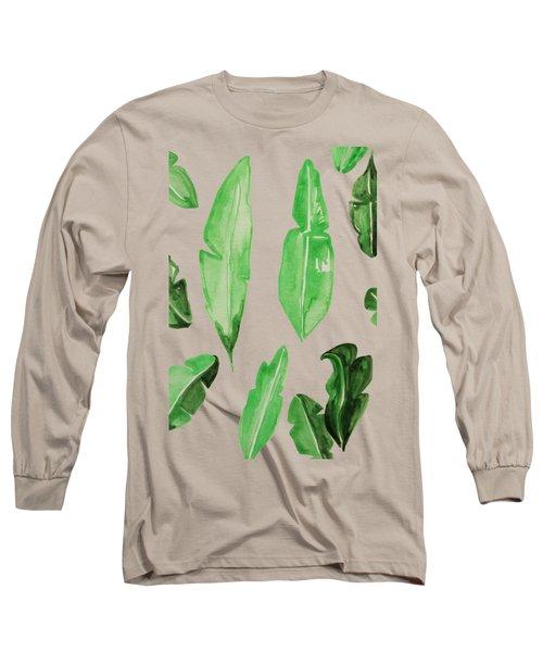 Leaves Long Sleeve T-Shirt by Cortney Herron