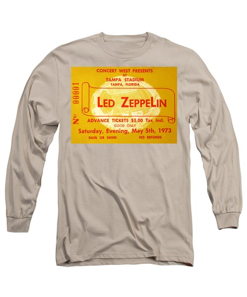 Led Zeppelin Ticket Long Sleeve T-Shirt by David Lee Thompson