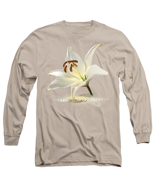 Lily Trumpet Long Sleeve T-Shirt by Gill Billington
