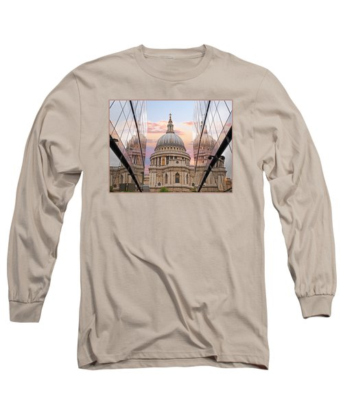 London Awakes - St. Pauls Cathedral Long Sleeve T-Shirt by Gill Billington