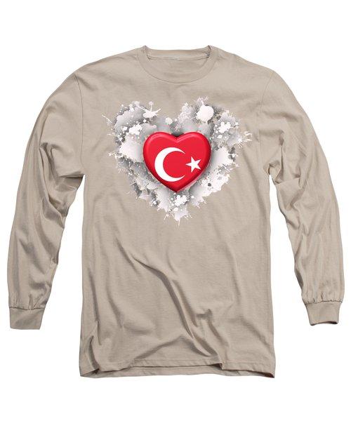 Love Turkey Long Sleeve T-Shirt by Alberto RuiZ