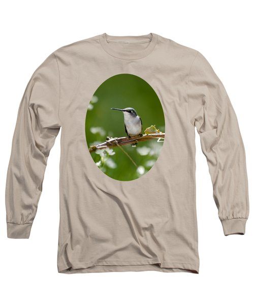 Meadow Hummingbird Long Sleeve T-Shirt by Christina Rollo