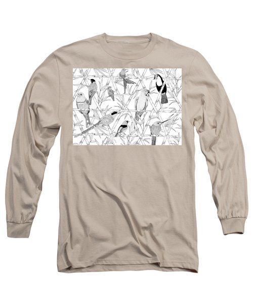 Menagerie Black And White Long Sleeve T-Shirt by Jacqueline Colley
