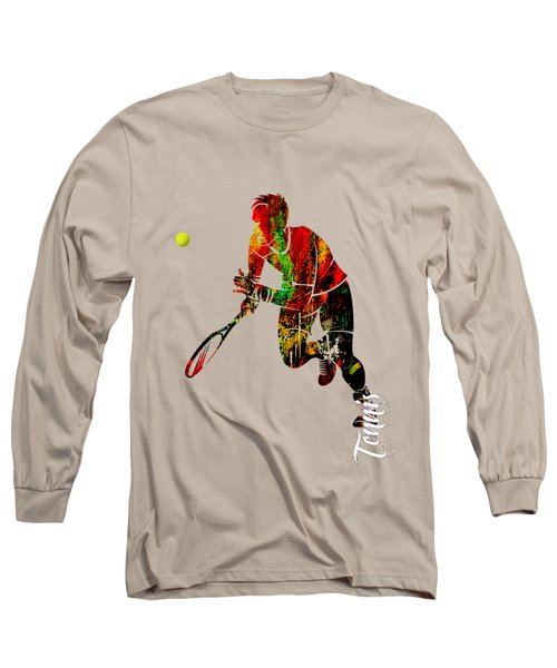 Mens Tennis Collection Long Sleeve T-Shirt by Marvin Blaine