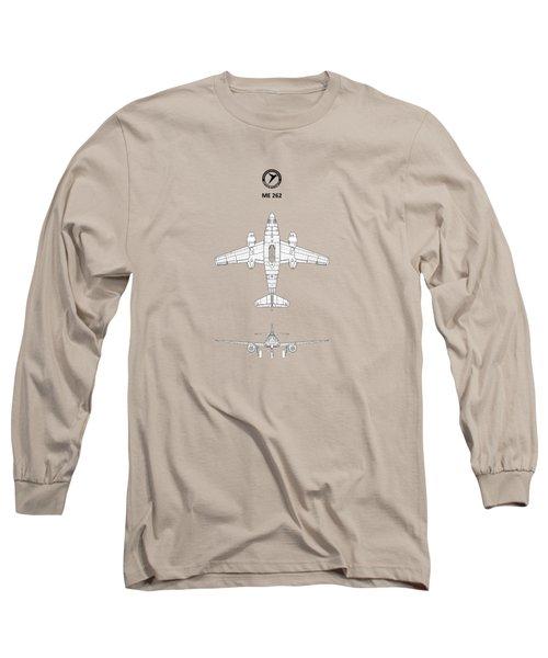 Messerschmitt Me 262 Long Sleeve T-Shirt by Mark Rogan