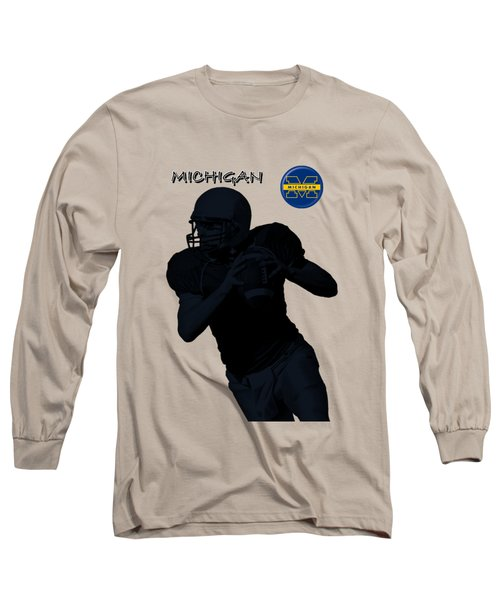 Michigan Football  Long Sleeve T-Shirt by David Dehner