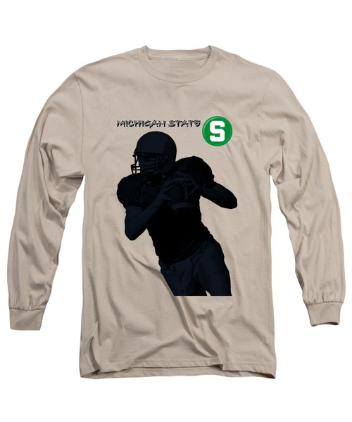 Michigan State Football Long Sleeve T-Shirt by David Dehner