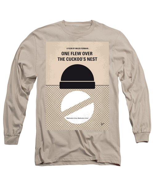 No454 My One Flew Over The Cuckoos Nest Minimal Movie Poster Long Sleeve T-Shirt by Chungkong Art