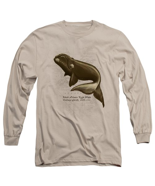 North Atlantic Right Whale Long Sleeve T-Shirt by Amber Marine