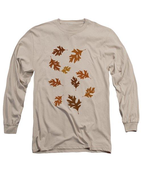 Oak Leaves Art Long Sleeve T-Shirt by Christina Rollo