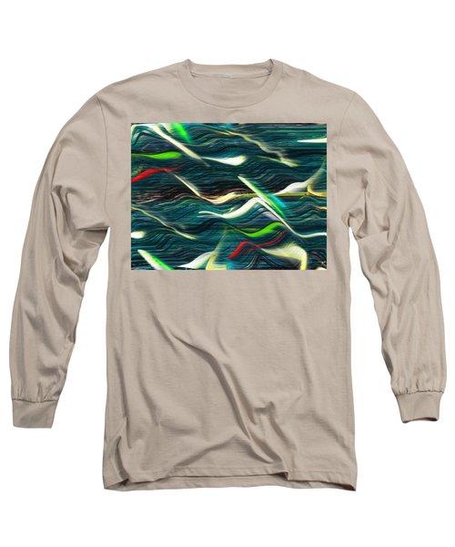 Ocean Run 2 Long Sleeve T-Shirt by Yul Olaivar