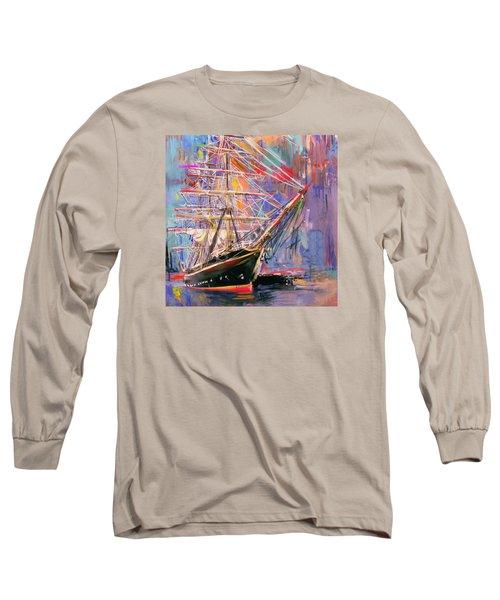 Old Ship 226 4 Long Sleeve T-Shirt by Mawra Tahreem