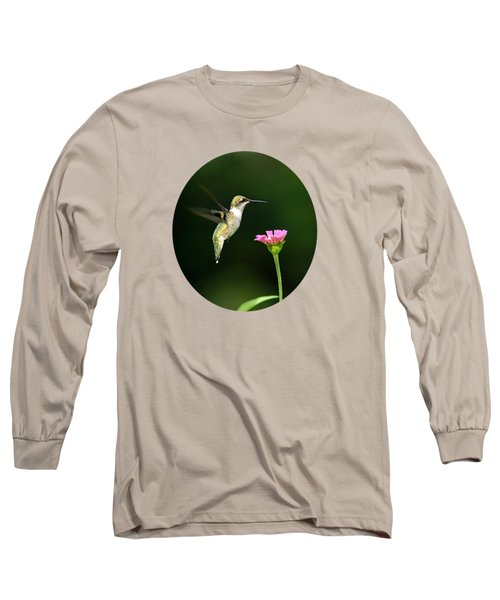 One Hummingbird Long Sleeve T-Shirt by Christina Rollo