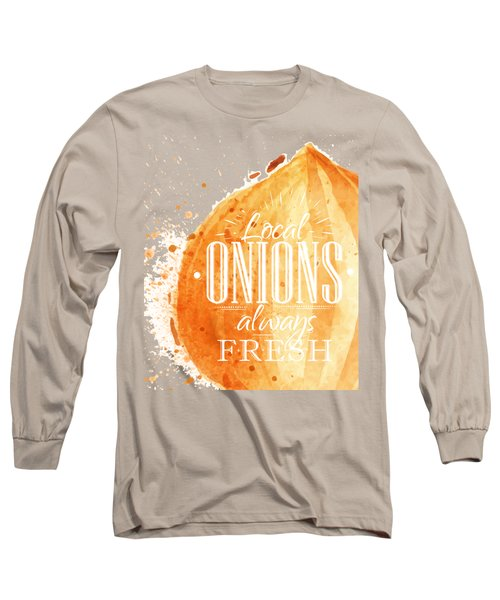 Onion Long Sleeve T-Shirt by Aloke Design