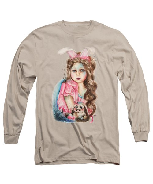 Only Friend In The World - Bunny Long Sleeve T-Shirt by Sheena Pike