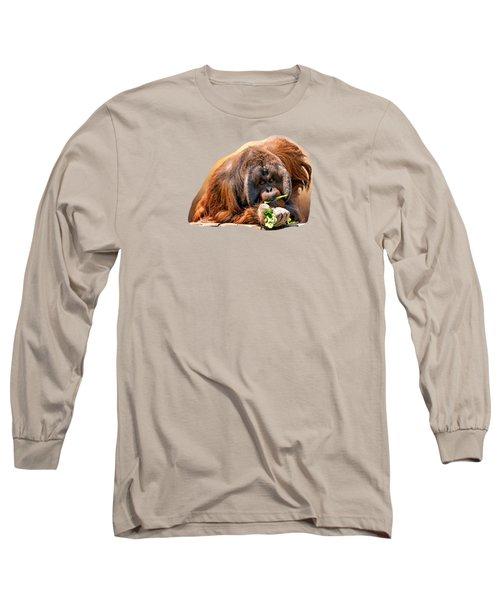 Orangutan Long Sleeve T-Shirt by Maria Coulson