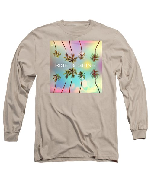 Palm Trees Long Sleeve T-Shirt by Mark Ashkenazi