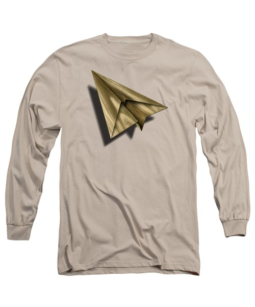 Paper Airplanes Of Wood 18 Long Sleeve T-Shirt by YoPedro