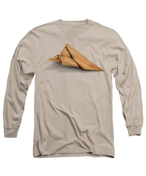 Paper Airplanes Of Wood 2 Long Sleeve T-Shirt by Yo Pedro