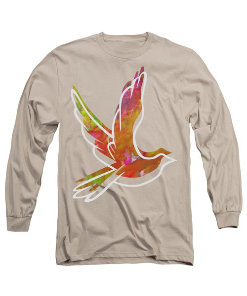 Part Of Peace Dove Long Sleeve T-Shirt by Priscilla Wolfe