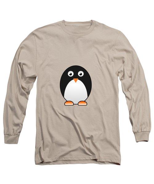 Penguin - Birds - Art For Kids Long Sleeve T-Shirt by Anastasiya Malakhova
