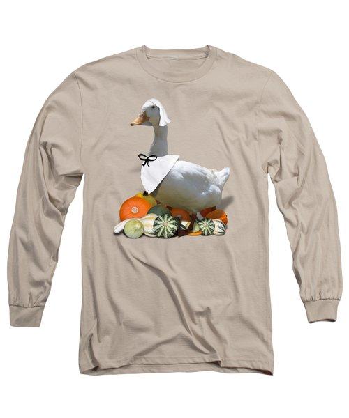 Pilgrim Duck Long Sleeve T-Shirt by Gravityx9 Designs