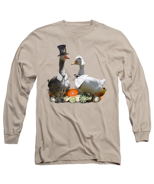 Pilgrim Ducks Long Sleeve T-Shirt by Gravityx9 Designs