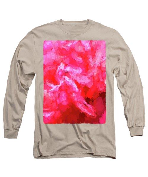 Pink Petals Long Sleeve T-Shirt by Jackie VanO