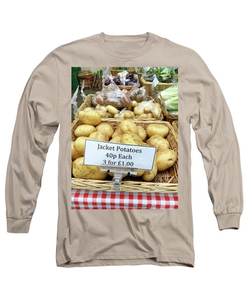 Potatoes At The Market  Long Sleeve T-Shirt by Tom Gowanlock