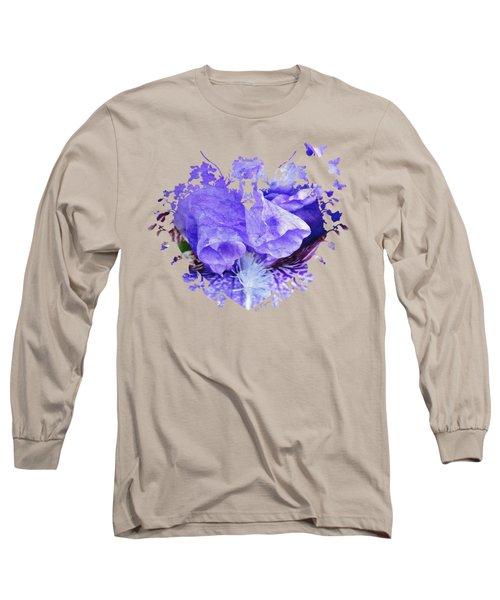 Pretty Purple Long Sleeve T-Shirt by Anita Faye
