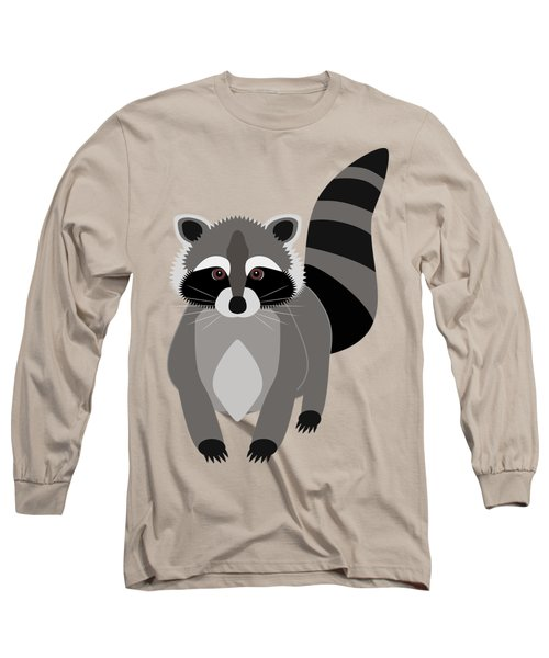 Raccoon Mischief Long Sleeve T-Shirt by Antique Images